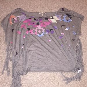 KIRRA GRAY TRIBAL SHIRT